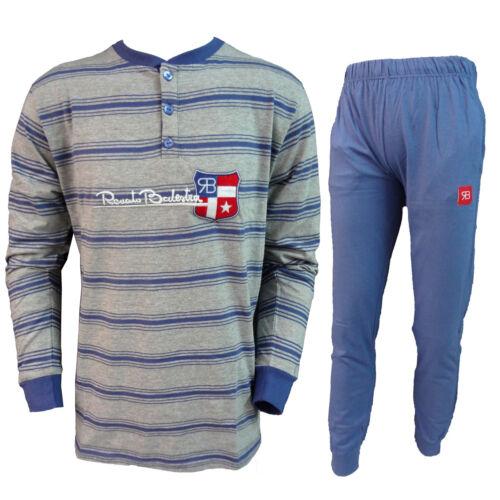 RS497 pigiama uomo lungo in cotone RENATO BALESTRA art
