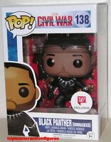 Funko Pop Marvel Civil War Black Panther: Unmasked 138 Walgreens Exc In Stock