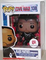 Funko Pop Marvel Civil War Black Panther: Unmasked 138 Walgreens Exc In Stock