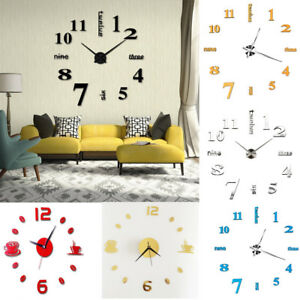 3D-Acrylic-DIY-Home-Clock-Modern-Decoration-Crystal-Mirror-Vinyl-Art-Stickers