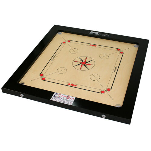 Professional Carrom Board Synco - 20mm Thick Birch Ply Surface & Hardwood Frame