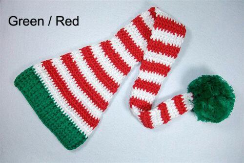 Knit Crochet Infant Baby Long tail Hat Cap Beanie Newborn Photo Prop X-MAS Hat