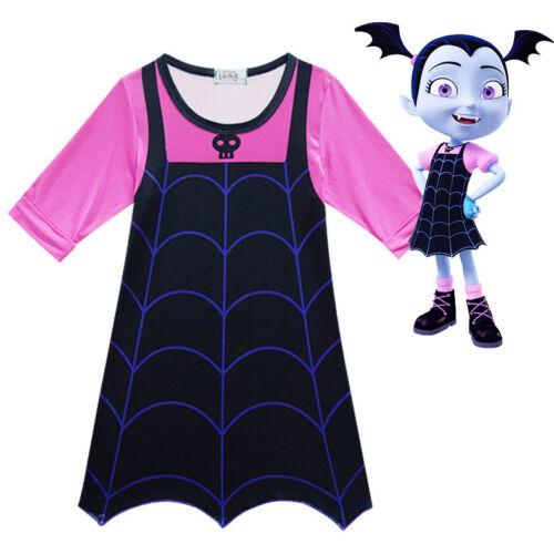 Girls Vampirina Cartoon Dress Holiday Party Cosplay Costume  ZG8