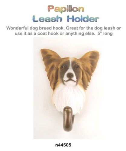 PAPILLON Dog Leash Hook NEW in Box