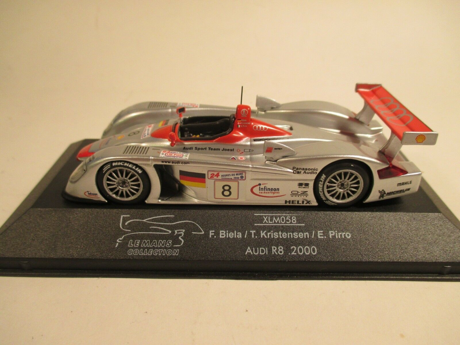 Onyx XLM058 Audi R8 Le Mans 2000 Biela Kristensen Pirro 1 43 MIB