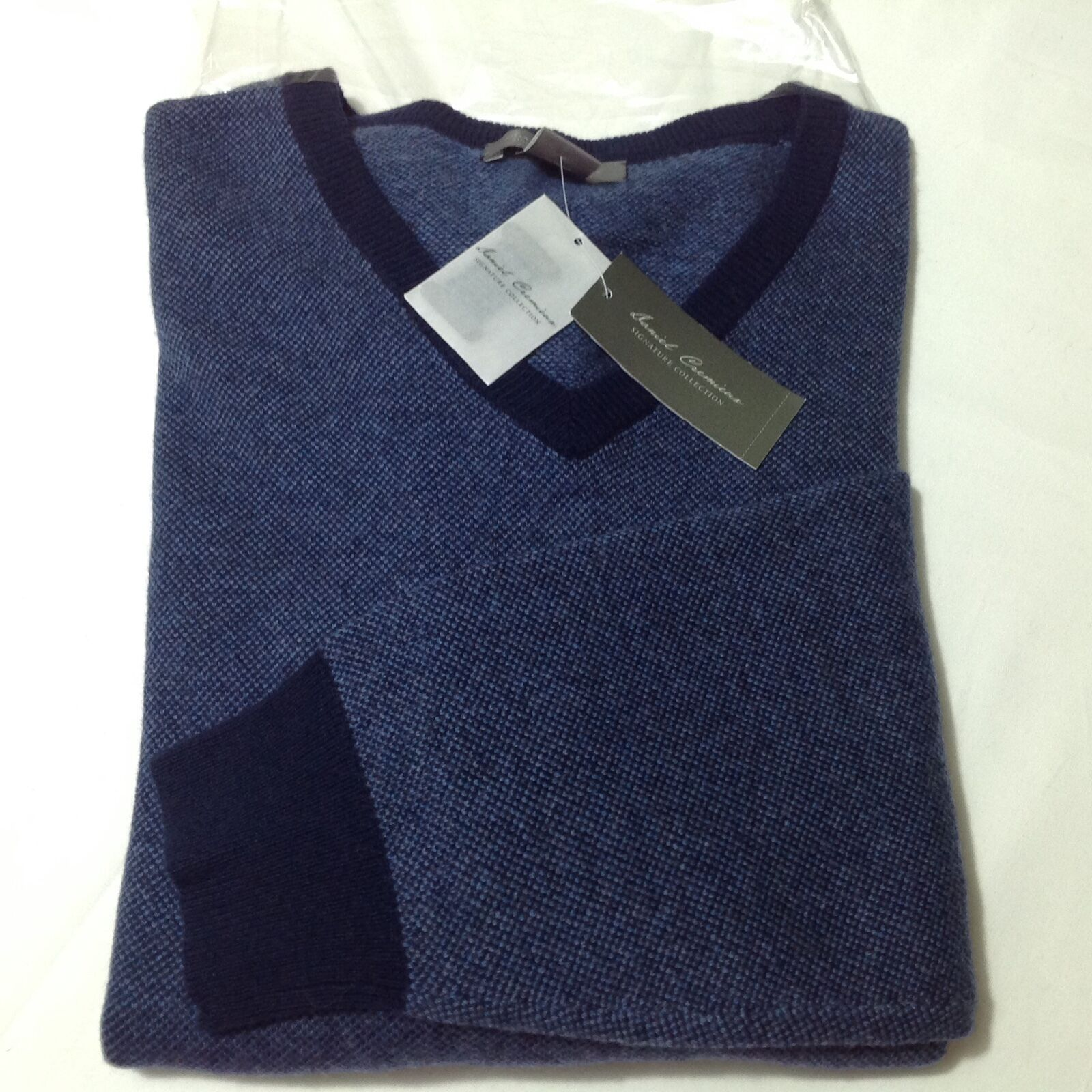 Cremieux Signature Luxury Wool/Cashmere Navy Heather Men Sweater XXL NWT195