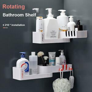 Bathroom Corner Storage Rack Shower Shelf Organiser Basket Tidy Rotating Tripod