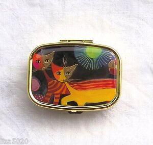 Pillendose-Pillenbox-Katzen-mit-Sonne-Rosina-Wachtmeister-NEU