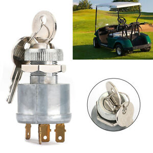 An/Aus/Outfit Zündung Schlüssel Schalter für Ezgo Golf Cart 1981-up 4 Terminal