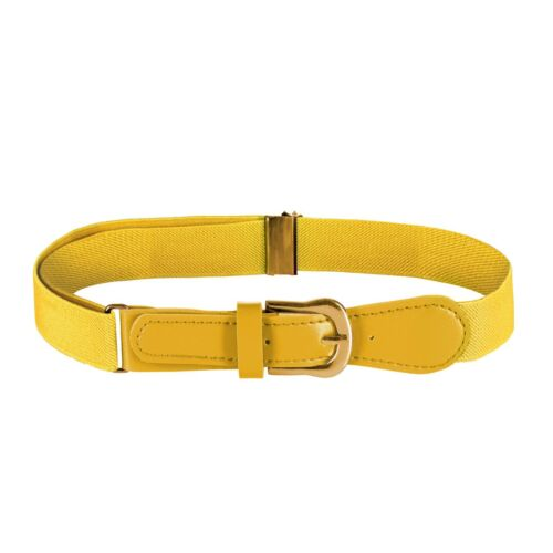 Kids Elastic Adjustable Belt With Leather Closure for Boys Girls Toddlers