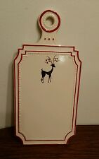 """Holiday Ceramic Cheese Board with Reindeer Design, 10""""x6"""""""