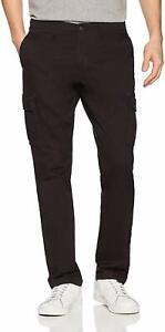 USED-Goodthreads-Men-039-s-Slim-Fit-Vintage-Cargo-Pant-Black-32W-x-30L
