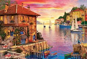 Puzzle-Educa-17135-Puerto-Mediterraneo-5000-piezas-Arte-pieces-teile