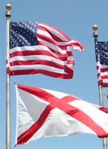 20-FT-VALLEY-FORGE-FLAGPOLE-W-1-3-039-x5-039-U-S-FLAG-amp-1-2-039-x3-039-ALABAMA-STATE-FLAG