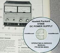 Hp 6186b Power Supply, Operator & Service Manual