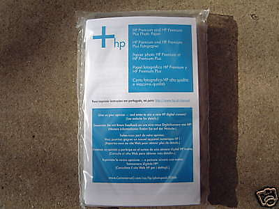 GENUINE 20 SHEETS OF 4 X 6 HP PHOTO GLOSSY PAPER BUY 3 GET ONE FREE FAST POSTAGE