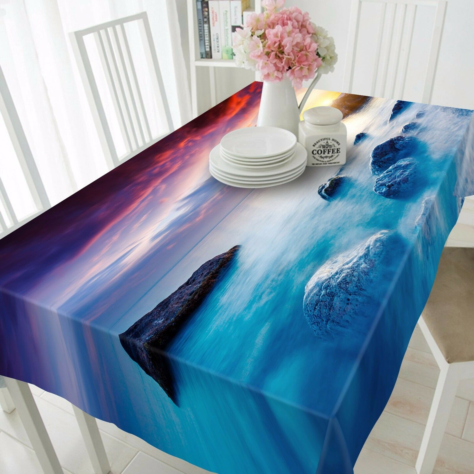 3D Sea lake89 Tablecloth Table Cover Cloth Birthday Party Event AJ WALLPAPER AU