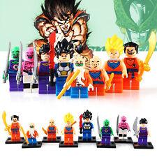 8 PCS SET Dragon Ball Z Son Goku Roshi Vegeta Custom Minifigures-Compatible-LEGO