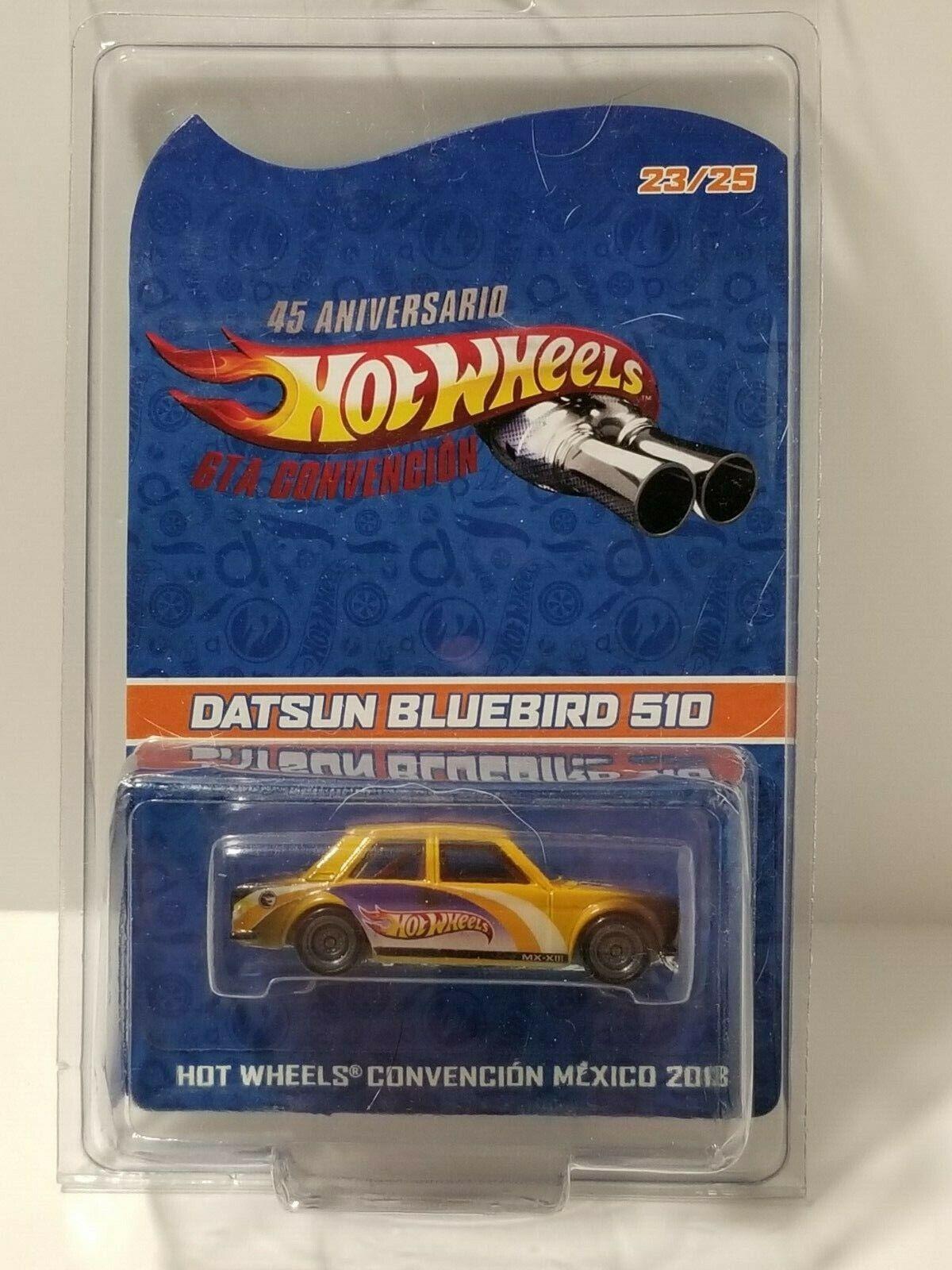 Hot Wheels 2013 Mexico Convention Yellow Custom DATSUN blueEBIRD   25