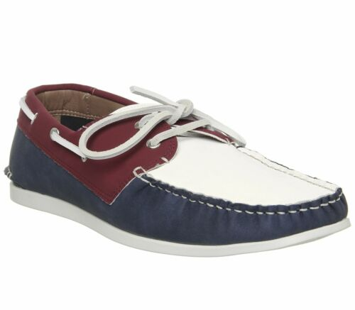 Mens Office Floats Your Boat Shoes Red Navy White Casual Shoes
