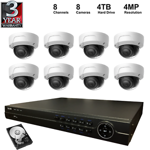 Details about NVR Kit: 8 Channel NVR+4TB Hard Drive+4MP Dome IP Camera,  Hikvision OEM for USA