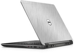 BRUSHED-ALUMINUM-Vinyl-Lid-Skin-Cover-fits-Dell-Latitude-E7440-Laptop