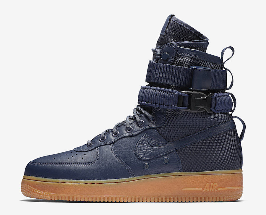 New Men's Nike SF AF1 Air Force 1 Midnight Midnight Midnight Navy bluee Gum Size 8 864024 400 35bbea