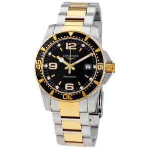 Longines-HydroConquest-Black-Dial-Men-039-s-Watch-L3-740-3-56-7