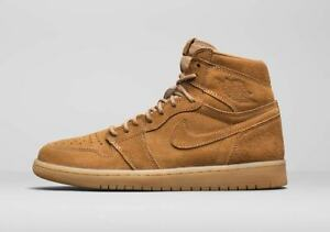 sneakers for cheap fc1a5 3bf75 Image is loading Nike-Air-Jordan-Retro-1-High-Wheat-Golden-
