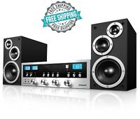 Home Speaker Cd Stereo System Bluetooth Audio Technology Mp3 Fm Radio Aux