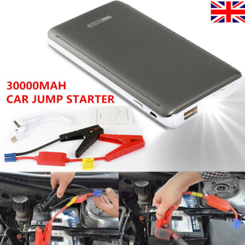 30000MAH CAR 20JUMP STARTER BATTERY CHARGER BOOSTER RESCUE PACK 600A 12V POWER