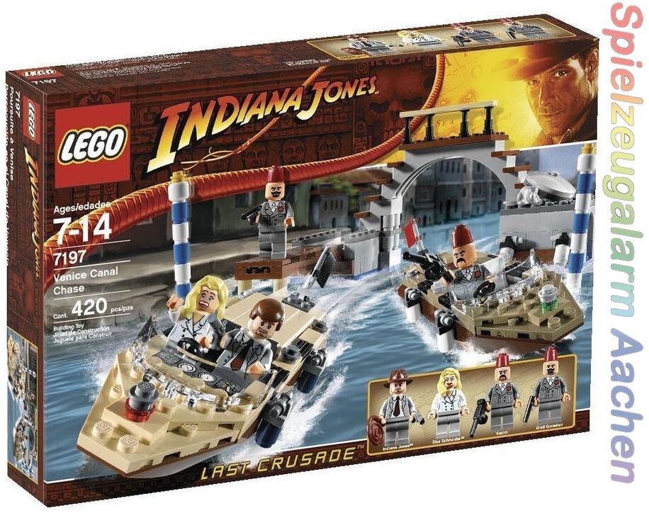 LEGO 7197 Indiana Jones course poursuite à venise très rare very rar MISB