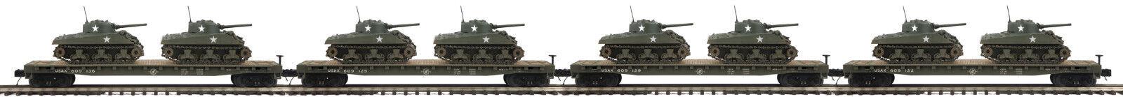 MTH  20-92150 EE. UU. ejército Cochero con 2 tanques Sherman Paquete de 4