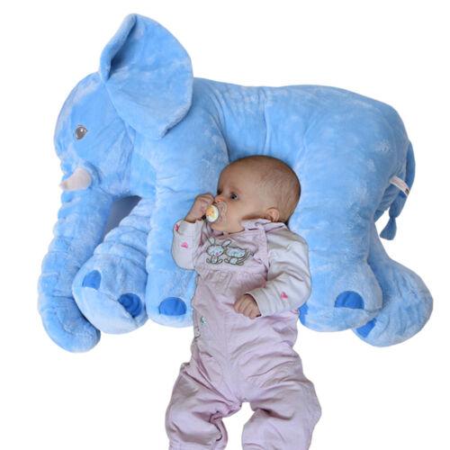 Elefant Kuscheltier zum Einschlafen Baby Kleinkind Plüschelefant 68 cm hellblau