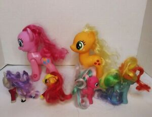 "Hasbro My Little Pony Lot of 6 Ponies 5""& 3""in Figures"