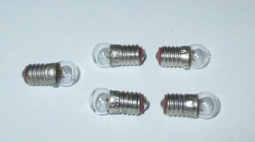 """Puppenhauslampen 5 Stück  /""""NEU/"""" Glühbirne E5.5 3,5V  für Krippen-"""