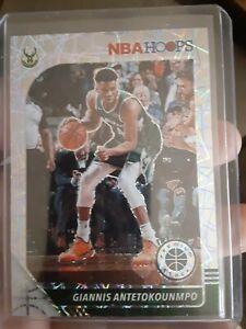GIANNIS ANTETOKOUNMPO LAZER PRIZM SP 2019-20 NBA HOOPS PREMIUM STOCK BUCKS MVP