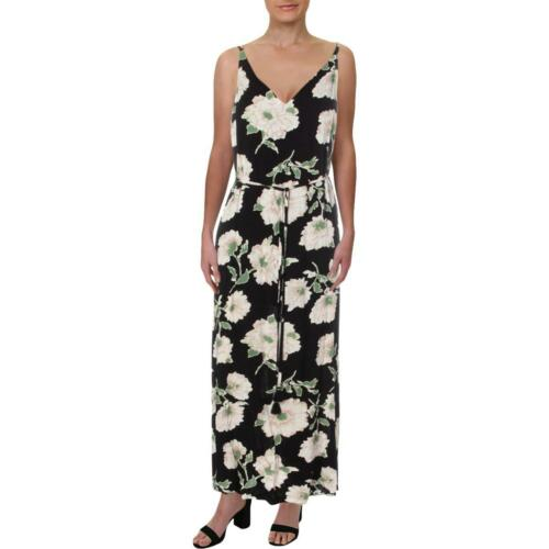 Aqua Womens Soprano Floral Print Crisscross Casual Maxi Dress BHFO 6020