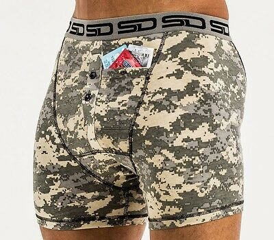 Smuggling Duds Digicam Mens Boxer Shorts Camo