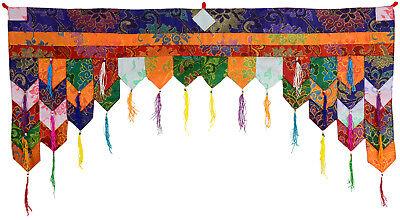 Wand 99 cm x 40 cm Chukor Tibetischer Wandbehang Handarbeit aus Nepal