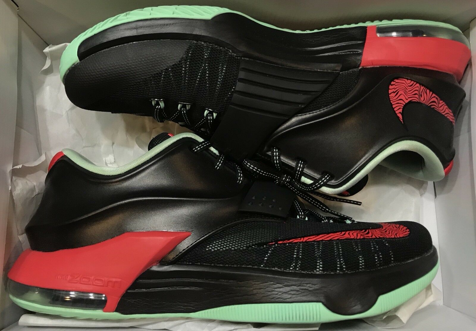 Nike KD VII 7 Bad Apple Black Red Mint Green 653996-063 Sz 10.5