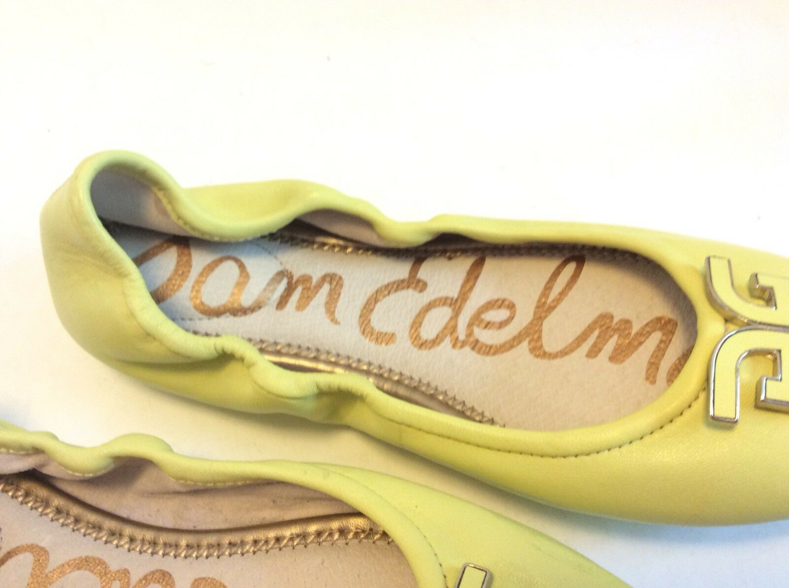 Sam Edelman Felicia Lemon Pastel Citron Yellow Pelle Ballet Ballet Ballet Flats Scarpe Taglia 6 b0ddfa