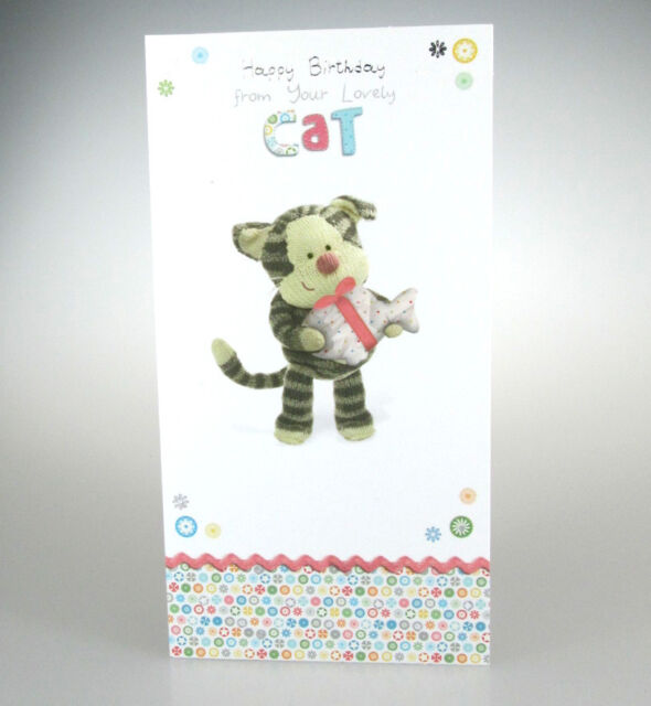 Boofle Happy Birthday From The Cat Greeting Card Cute Range