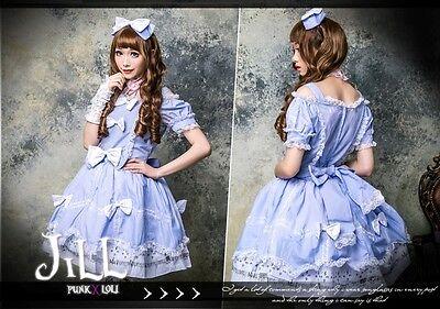 lolita GOTH Princess diary Baby symphony off shoulder dolly dress HA138 BU