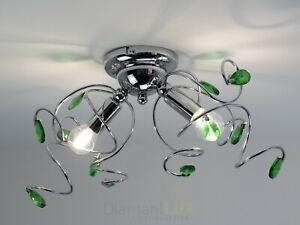 Plafoniere Cristallo Bagno : Lampadario plafoniera design moderno cristallo verde ingresso