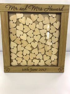 Personalised-oak-wooden-wedding-guest-book-heart-drop-box-144-hearts