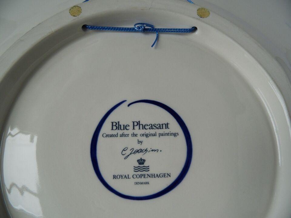 Porcelæn, Blå Fasan - Stort fad, Royal Copenhagen