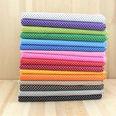"Polka Dot Series 16 Assorted Pre-Cut Charm Cotton Quilt Fabric Quarters 19""/39"""