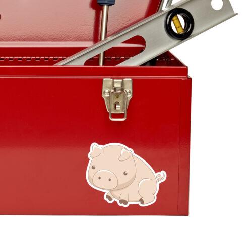 2 x 10cm Pink Pig Vinyl Sticker Laptop Helmet Kids Car Bike Farm Animal #6420