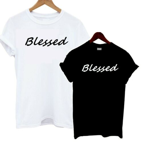 Blessed T Shirt Slouch Tee Slogan Statement Bloggers Celebrity Lucky Fashion